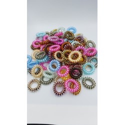 10 PCS TELEPHONE LINE HAIR TIE (RANDOM COLOR)