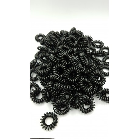 10 PCS TELEPHONE LINE HAIR TIE (BLACK COLOR)