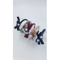PONYTAIL FLOWER HAIR TIES 5pcs/set ( RANDOM COLOR)