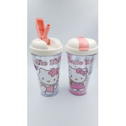 HELLO KITTY  WATER TUMBLER WITH STRAW 400ML